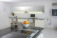 designer kitchen fruit bowl hob
