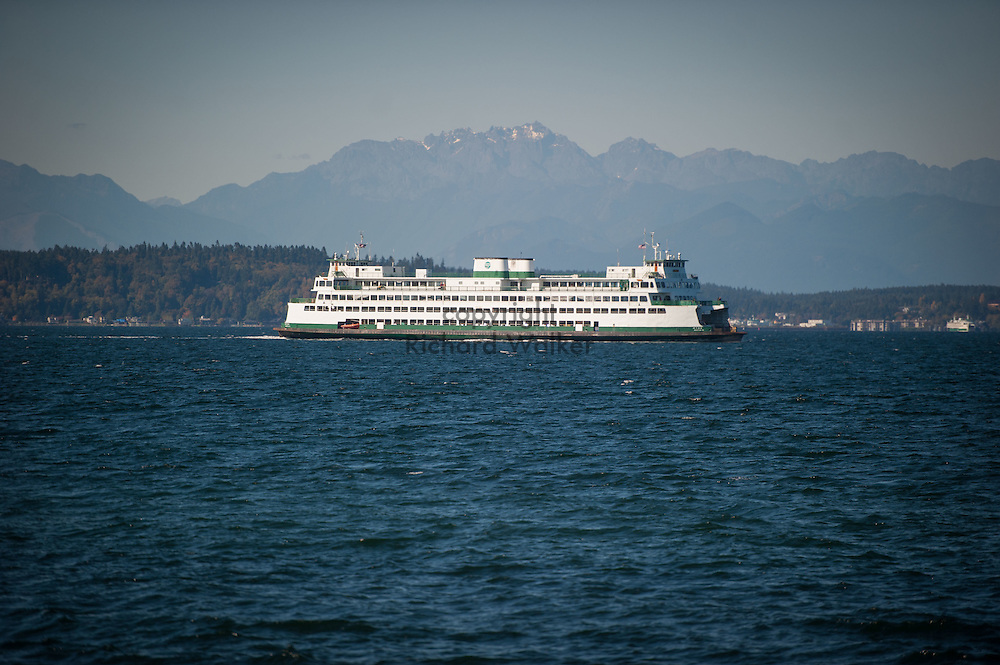 2016 October 11 - Washington State Ferry, off Alki, Puget Sound, West Seattle , Seattle, WA, USA. By Richard Walker