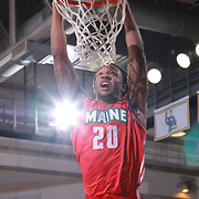 Maine Red Claws Guard LEVI RANDOLPH (20) dunks the ball in the first half of a NBA D-league regular season basketball game between the Delaware 87ers and the Maine Red Claws  Friday, Feb. 05, 2016 at The Bob Carpenter Sports Convocation Center in Newark, DEL.