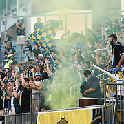 Philadelphia Union celebrate a ALBERG score in the stands in the first half of a Major League Soccer match between the Philadelphia Union and Chicago Fire Wednesday, June. 22, 2016 at Talen Energy Stadium in Chester, PA.