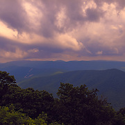 &quot;Glory Over the Blue Ridge&quot;<br /> <br /> Gorgeous pinks and purples grace the sky above layers of mountains in the Blue Ridge Mountains of Virginia!
