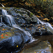 Laurel Falls in autumn in Great Smoky Mountains National Park, TN.