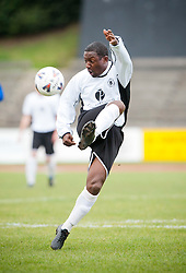 Edinburgh City's new signing Russell Latapy. The former Trinidad and Tobago football international player came out of retirement to sign for East of Scotland Football League club Edinburgh City in October 2011. Edinburgh City 0 v 1 Irvine Meadow, William Hill Scottish Cup second round, 22/10/2011.