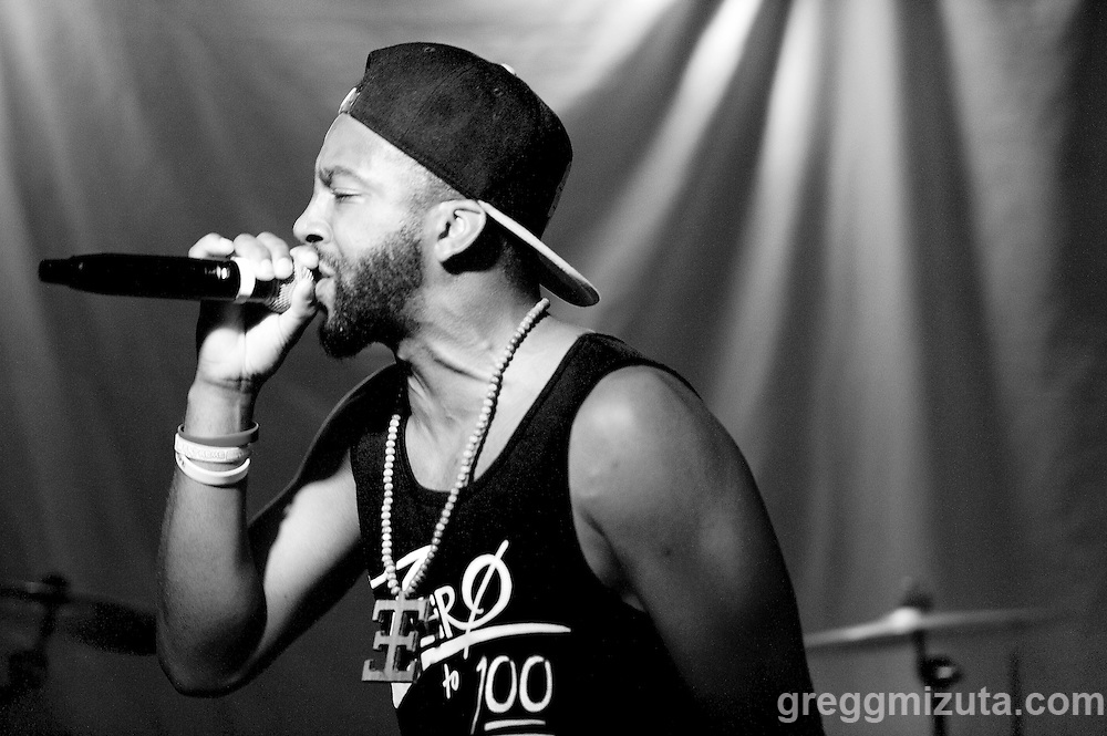 ZERO (Cornell Johnson) performs at Axiom Tha Wyze's Release Party for his first solo EP titled Production Dezign, on July 1, 2016 at The Olympic Venue in Boise, Idaho. (Gregg Mizuta/greggmizuta.com)<br /> <br /> The event included performances from the entire Earthlings Crew including: Gage Atg Anderson, Clev Speech, Andy O., ZERO, Corevette Dance, as well as brand new music from Axiom Tha Wyze.