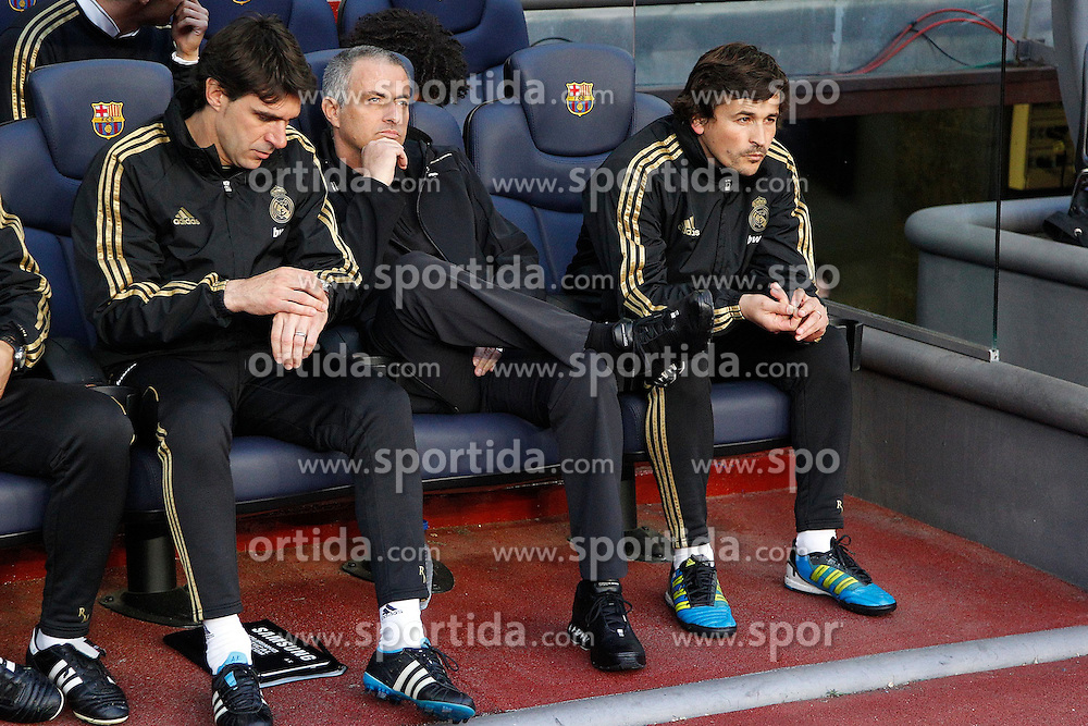 21.04.2012, Stadion Camp Nou, Barcelona, ESP, Primera Division, FC Barcelona vs Real Madrid, 35. Spieltag, im Bild Real Madrid's Jose Mourinho // during the football match of spanish 'primera divison' league, 35th round, between FC Barcelona and Real Madrid at Camp Nou stadium, Barcelona, Spain on 2012/04/21. EXPA Pictures © 2012, PhotoCredit: EXPA/ Alterphotos/ Cesar Cebolla..***** ATTENTION - OUT OF ESP and SUI *****