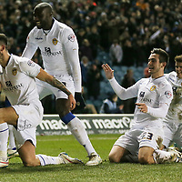 Football-Leeds United v Ipswich Town-Sky Bet Football League Championship-Elland Road-04/03/2015-Pictures by Paul Currie-KEEP-Leeds United's Alex Mowatt celebrates his goal with his team mates