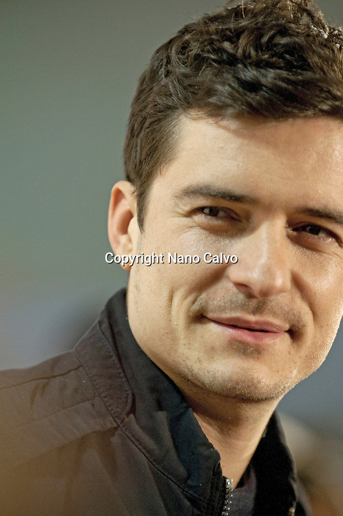 Orlando Bloom presents the new Hugo Boss fragance at a photocall in Madrid, Spain.