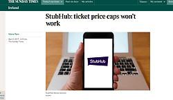 The Sunday Times; Stubhub on smart phone