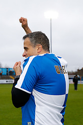 New Bristol Rovers President Wael Al-Qadi wears a club shirt wth his name on the back as he is introduced to the Memorial Stadium at half time after the previous days announcement his family has taken a 92 percent stake in the club - Mandatory byline: Rogan Thomson/JMP - 07966 386802 - 20/02/2016 - FOOTBALL - Memorial Stadium - Bristol, England - Bristol Rovers v Morecambe - Sky Bet League 2.