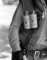 Police with CS tear gas canisters during People's Park  Student protest & riots in Berkeley California 1969