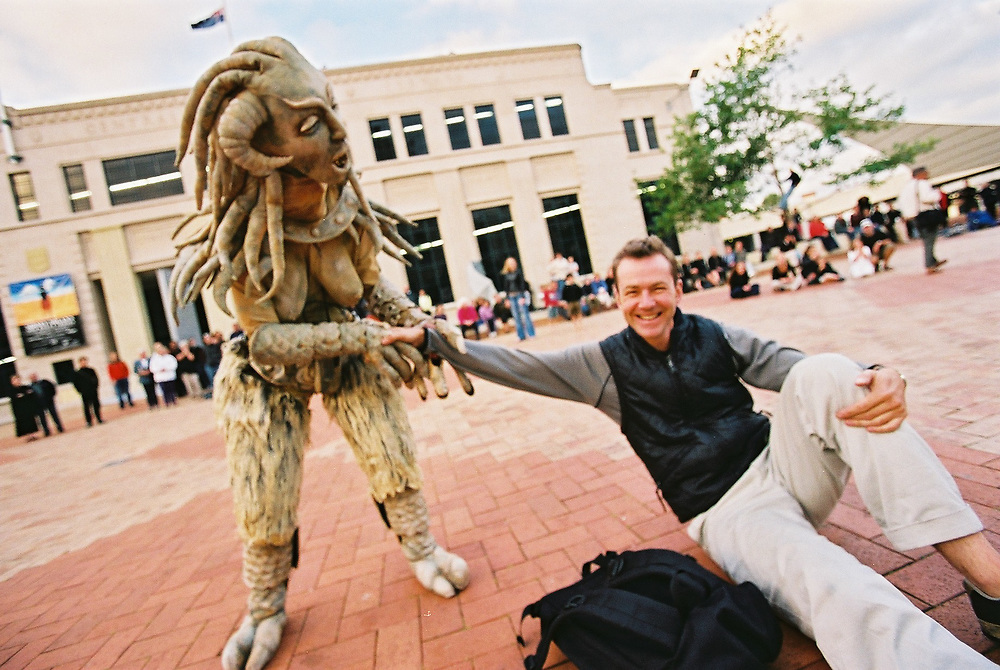 New Zealand International Arts Festival 2002: Gargoyles<br /> <br /> Photo by Robert Catto, on Tuesday 12 March, 2002. Please credit &amp; tag the photographer when images are used - @robertcatto on Instagram &amp; Twitter, @robertcattophotographer on Facebook.