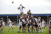 Twickenham, GREAT BRITAIN, Exiles, James HUDSON, distributes the line out ball, during the EDF Energy Cup rugby match,  Harlequins vs London Irish, at Twickenham Stoop, Surrey on Sat 25.10.2008 [Photo, Peter Spurrier/Intersport-images]
