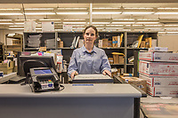 """""""I've been here the longest of anyone working here...um...27 years...since the day after the loma linda earthquake.""""  """"My kids say that where ever we go, people always know who I am.""""  -Calistoga post office clerk Lori Cantrell"""