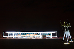"""Palacio do Planalto, Brasilia,DF,Brazil. Palacio do Planalto. / Palacio do Planalto, the seat of the Brazilian Government. The name means """"Palace of the Plateau"""" and it was designed by Oscar Niemeyer."""