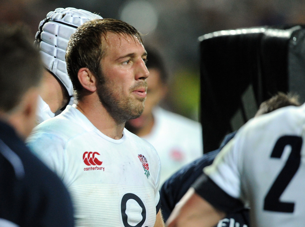 England's captain Chris Robshaw as New Zealand convert their final try in the third International Rugby Test at Waikato Stadium, Hamilton, New Zealand, Saturday, June 21, 2014. (Credit:SNPA / Ross Setford