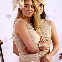 Lauren Conrad appears at the Kentucky Derby on May 4, 2013 in Louisville, Kentucky. (Photo by Michael Hickey)