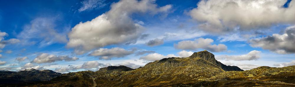 Panorama of Bitihorn at the edge of Jotunheimen.