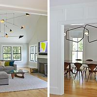 Connecticut house. Living Room and Dining Room. Architect: Platt Dana