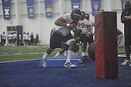 Defensive tackle Justin Smith (93) during Ole Miss' spring practice at the IPF in Oxford, Miss. on Monday, March 28, 2011.