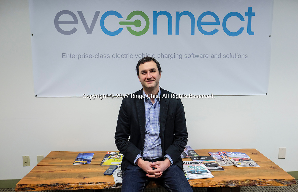 Jordan Ramer, CEO of EV Connect. (Photo by Ringo Chiu/PHOTOFORMULA.com)<br /> <br /> Usage Notes: This content is intended for editorial use only. For other uses, additional clearances may be required.
