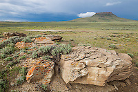 South Table Mountain in the Red Desert of Wyoming