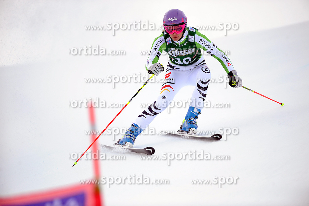 28.12.2013, Hochstein, Lienz, AUT, FIS Weltcup Ski Alpin, Lienz, Riesentorlauf, Damen, 1. Durchgang, im Bild Maria Höfl-Riesch (GER) // Maria Höfl-Riesch (GER) during the 1st run of ladies giant slalom Lienz FIS Ski Alpine World Cup at Hochstein in Lienz, Austria on 2013/12/28. EXPA Pictures © 2013, PhotoCredit: EXPA/ Erich Spiess