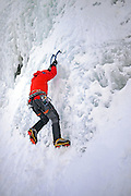 Ice Climbing in Pyh‰, Lapland, Finland