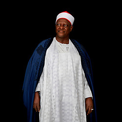 Portrait of the Dr. Haliru Yahaya, the emir of Shonga (Kwara State) in Northern Nigeria. <br /> <br /> For a portrait series on champions leading to end child marriage in Africa. All images made at the first-ever African Girls&rsquo; Summit on Ending Child Marriage, held in Lusaka, Zambia. The meeting aimed to facilitate exchange of good practices and challenges in ending child marriage, and to secure and renew commitments from African stakeholders.