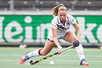 AMSTERDAM - Amsterdam - Den Bosch , Wagener Stadion , Hockey , Play-off hoofdklasse hockey , 03-05-2015 , Amsterdam speelster Jacky Schoenaker