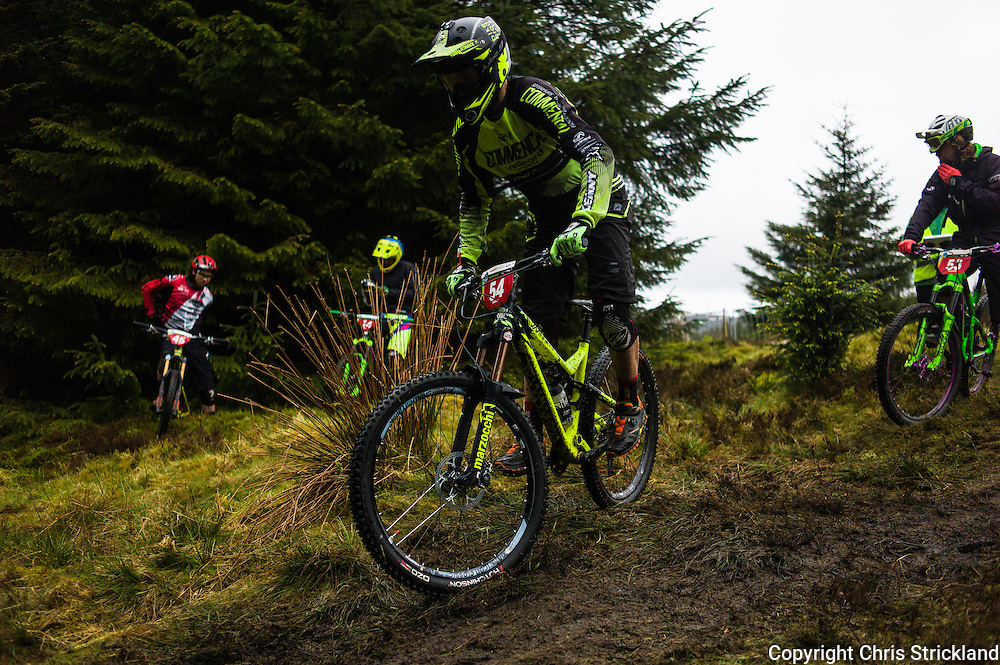 Glentress, Peebles, Scotland, UK. 31st May 2015. Cedric Ravenel at the start of Stage 5 at The Enduro World Series Round 3 taking place on the iconic 7Stanes trails during Tweedlove Festival.