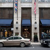 Ralph Lauren shop on New Bond Street, Mayfair, London, UK.