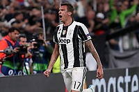 can - 09.05.2017 - Torino - Champions League Semifinale  -  Juventus-Monaco nella  foto: Mario Mandzukic esulta dopo il gol