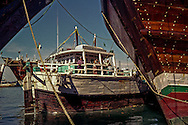 Sharjah, UAE: The MSV Shree Mahalaxmi, a Indian-flagged dhow, with a crew from Gujarat