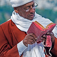 "JERUSALEM - NOV 24 : Ethiopian jew prays during the ""Sigd"" holiday in Jerusalem . Israel on November 24 2011 , The Jewish Ethiopean community celebrates the ""Sigd"" annualy in Jerusalem"