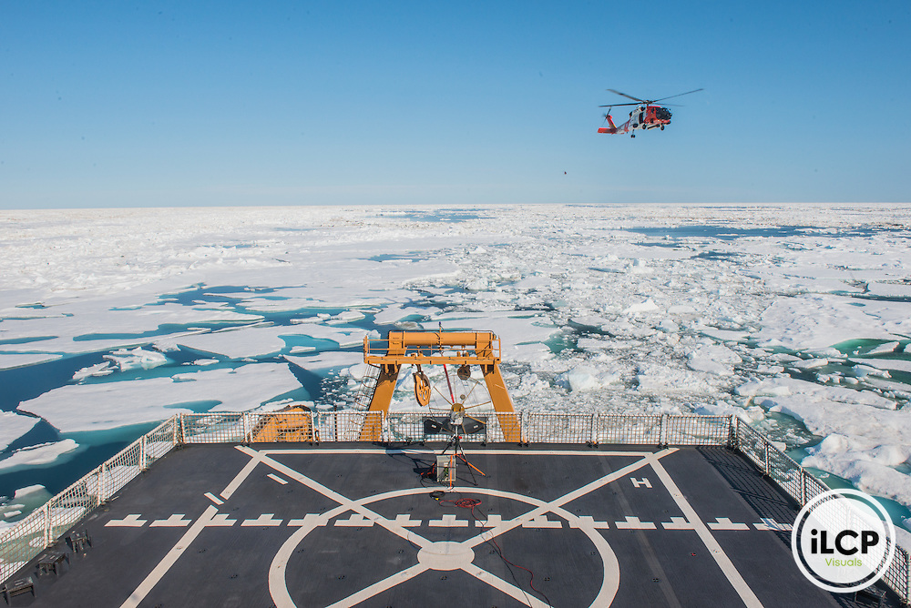 U.S. Coast Guard's SAREX, Search and Rescue Exercise across the Arctic region. In 2015, the mission focused on search and rescue, a clear nod to the coming spike in ship traffic. Beaufort Sea, USA, 07.13.2015, Esther Horvath / iLCP