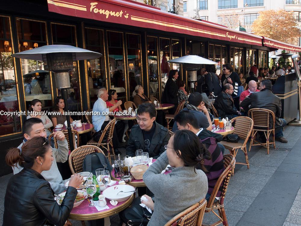 Champs Elysees Cafes Restaurants