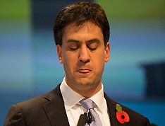 NOV 10 2014 Ed Miliband gives a speech for business from the Labour Party