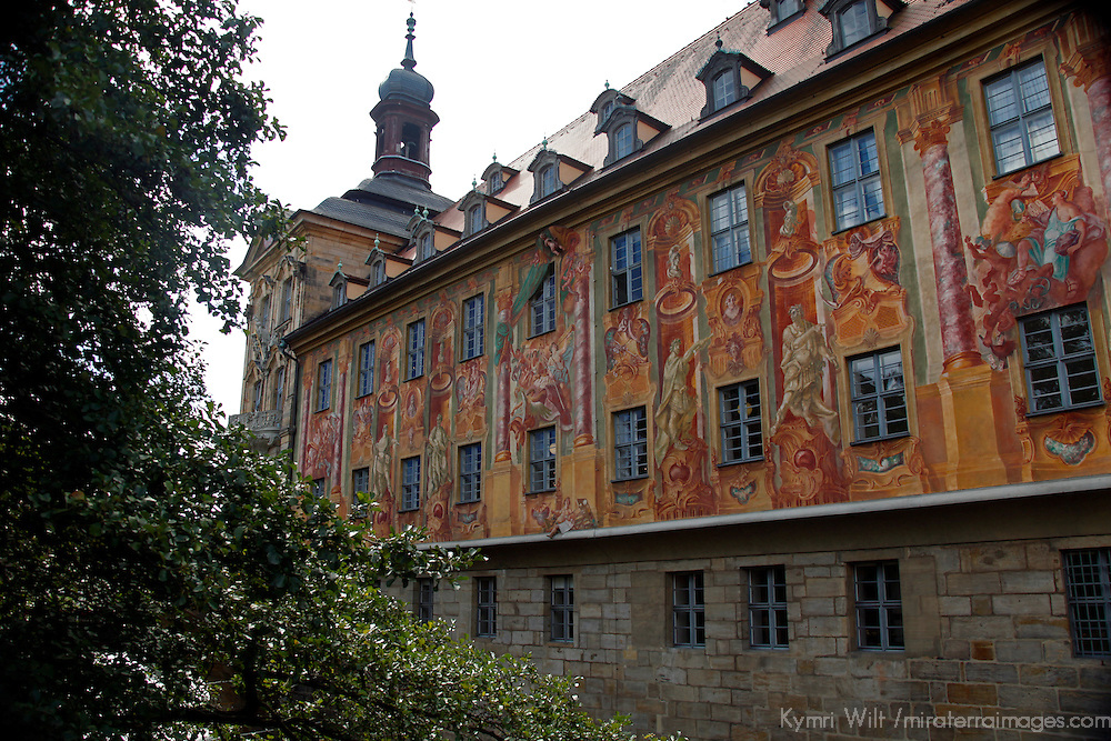Europe, Germany, Bamberg. The old Town Hall in Bamberg, a UNESCO World heritage Site.