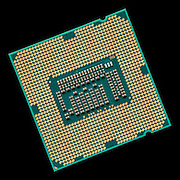 The Intel I7-3770K Central processing unit. A 4our core chip with 8 threads and a clock speed of 3.5Mhz.