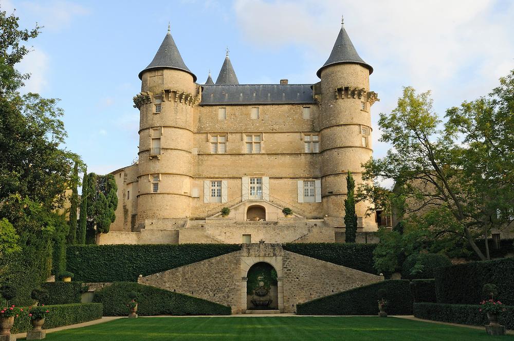France, Languedoc Roussillon, Hérault, région de Pézenas, Margon, château de Margon, le jardin