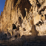 Long House in Bandelier National Monument, New Mexico.