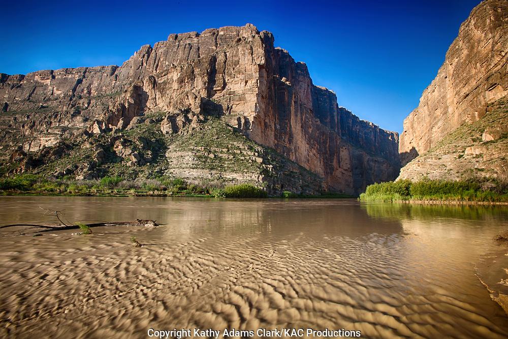 Santa Elena Canyon at Big Bend National Park, Texas.