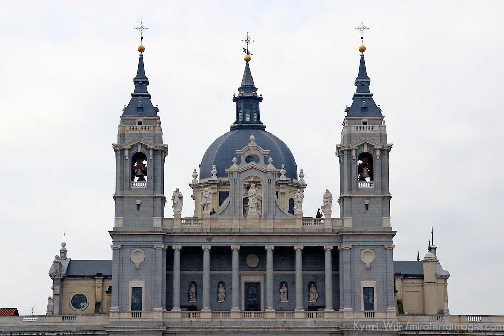 Europe, Spain, Madrid. Palacio Real de Madrid, south front.