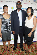l to r: Angela Burt-Murray, Earl Lucas and Michelle Ebanks at The Freedom's Sisters Luncheon sponsored by Ford Motors at The 2009 Essence Music Festival held at The New Orleans Marriott Convention Center on July 2, 2009 in New Orleans, Louisiana