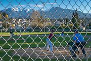 Spring baseball at Port Angeles high school.