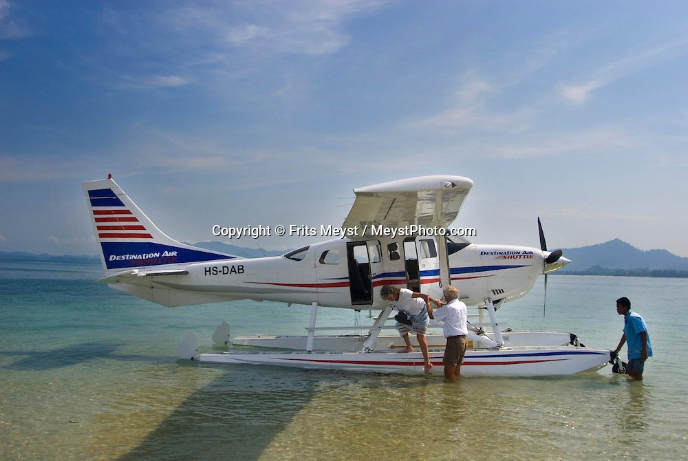 Koh Mook, Thailand, March 2007. A floatplane of Destination Air delivers us right on the beach of one of the many islands. Koh Mook is the place to be if one is looking for a quiet retreat in a small island in the Andaman Sea. Photo by Frits Meyst/Adventure4ever.com