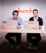 Chis Dixon, co-founder and Georges Duverger, designer/developer, at  Hunch offices in New York. Hunch helps web users  make and discover great recommendations that are customized to their tastes. The company's mission is to build a 'taste graph' connecting every person on the web with their affinity for every entity (camera, car, book, anything!) on the web.