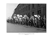 Barmen on a protest march to the Guinness Brewery in Dublin.<br /> <br /> 19.07.2013<br /> <br /> 19th July 1955