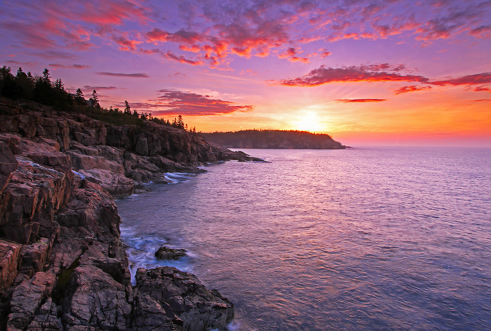 Maine Acadia National Park sunrise coastal photography images are available as museum quality photography prints, canvas prints, acrylic prints, wood prints or metal prints. Prints may be framed and matted to the individual liking and room decor needs:<br />