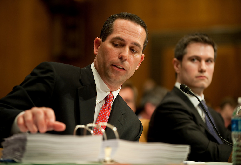 Apr 27,2010 - Washington, District of Columbia USA - .Daniel Sparks, the former head of Goldman Sachs mortgage department testifys during the Senate Homeland Security and Governmental Affairs subcommittee Hearing on Wall Street and the Financial Crisis.  (Credit Image: © Pete Marovich Images)